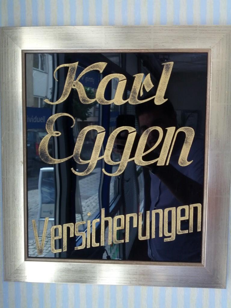 Karl Eggen Versicherungen Schild